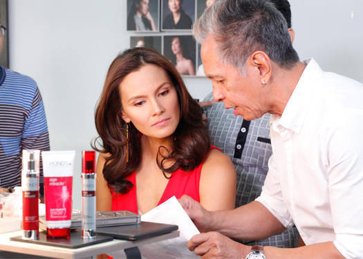 Jun De Leon is the creative director of the Pond's-PMAP shoot
