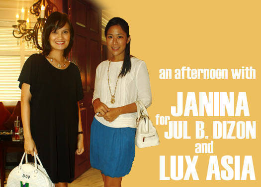 An Afternoon With Janina For Jul Dizon And Lux Asia