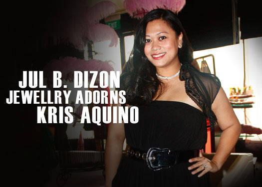 Jul B. Dizon Jewellery Adorns Kris Aquino