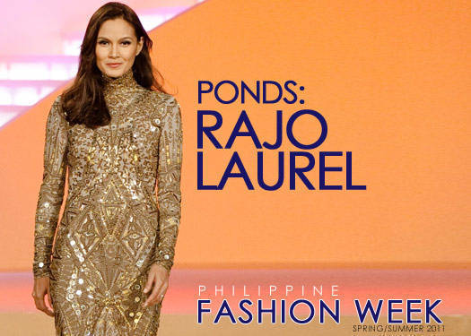 Rajo Laurel For Pond's Gold Radiance Spring/summer 2011