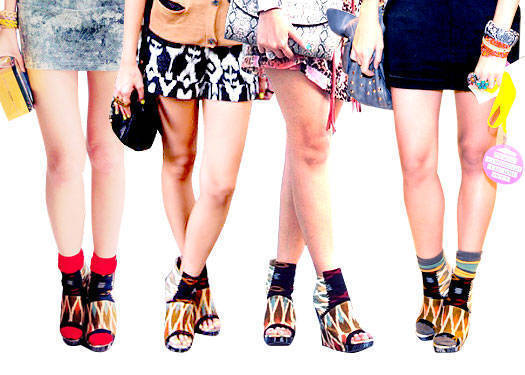 Trenspotting: Tribal-print Footwear