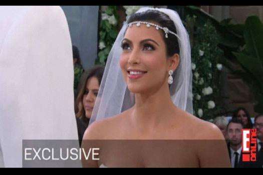 Kim Kardashian's Bridal Headpiece 1