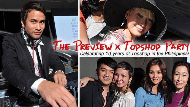 The Preview X Topshop Party