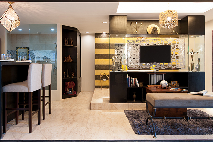 Modern Egyptian Style for a 24sqm Unit in Makati RL