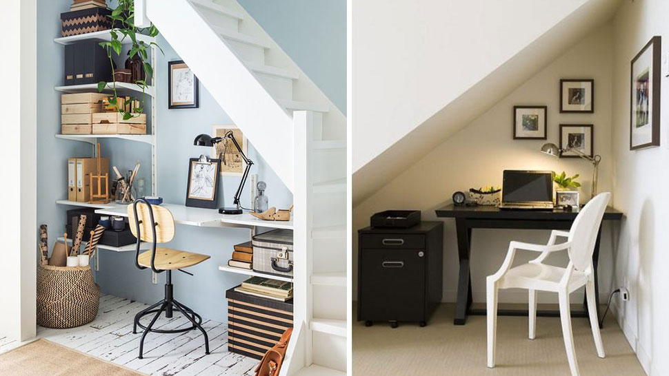 Build A Home Office Under The Stairs