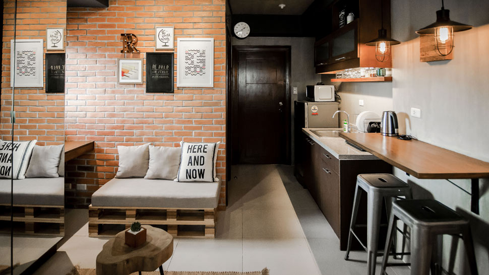 A Modern Industrial Look For A 22sqm Studio Unit