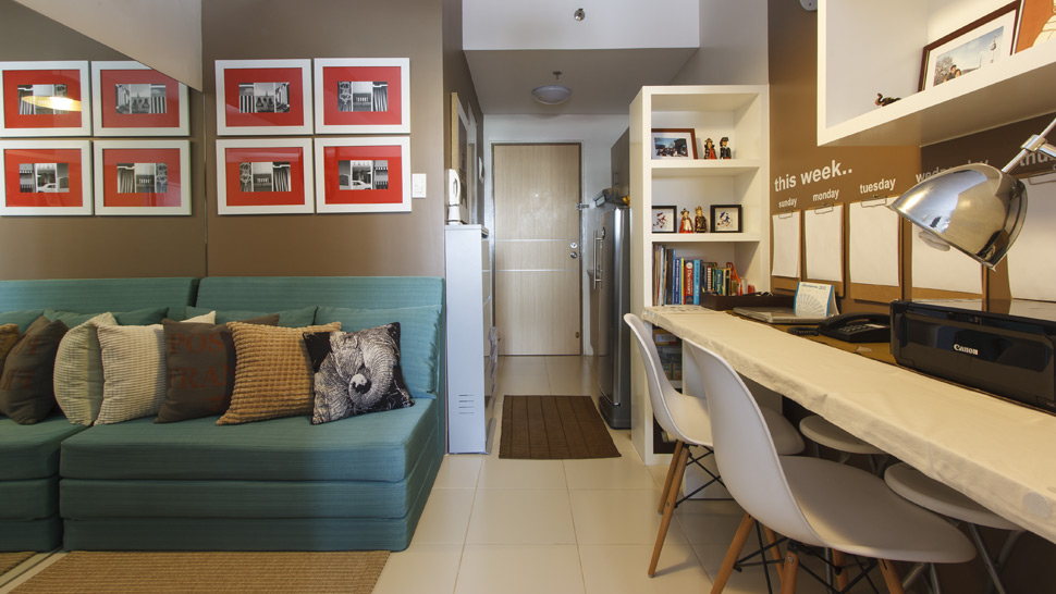 This 23sqm condo unit shows how a tiny space can feel like for Studio type condo interior design