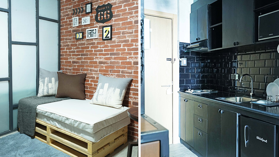 A Comfy Industrial Style For 27sqm Unit