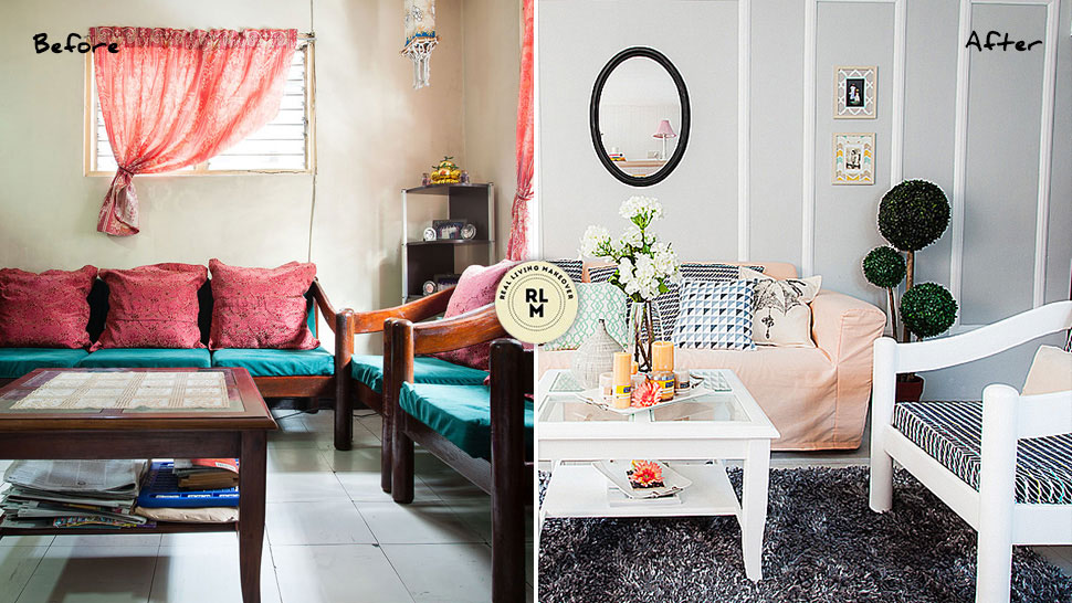 These Dramatic Living Room Makeovers Use Existing Furniture Pieces