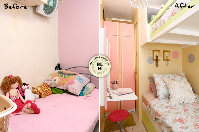 RL Makeovers: A 5sqm Bedroom for Two Girls | RL