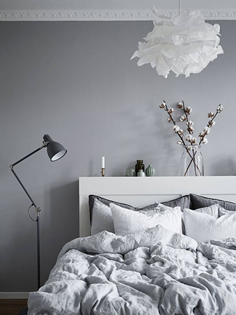 The Classic Combo Of Gray And White Gives The Room A Sophisticated Appeal  Without Losing The Inviting And Cozy Vibe. Choose A Light Gray Shade For  Your ...