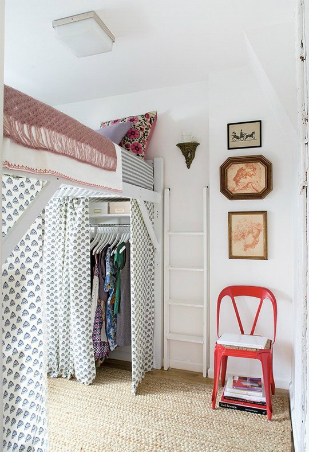 To Build A Makeshift Closet And Dressing Area, Consider Lofting Your Bed.  Doing This Helps Open Up Floor Space That You Can Use To Add A Rack For  Clothes ...
