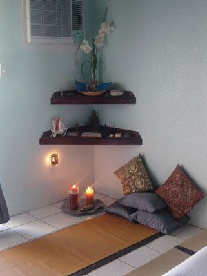 5 meditation spaces we 39 d love to have at home rl - Small meditation room ideas ...