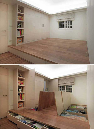 Lovely Build An Elevated Floor With Hidden Storage