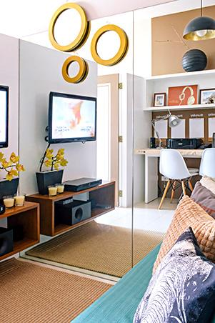 Small space ideas for a 23sqm condo rl - Small space living room designs philippines ...