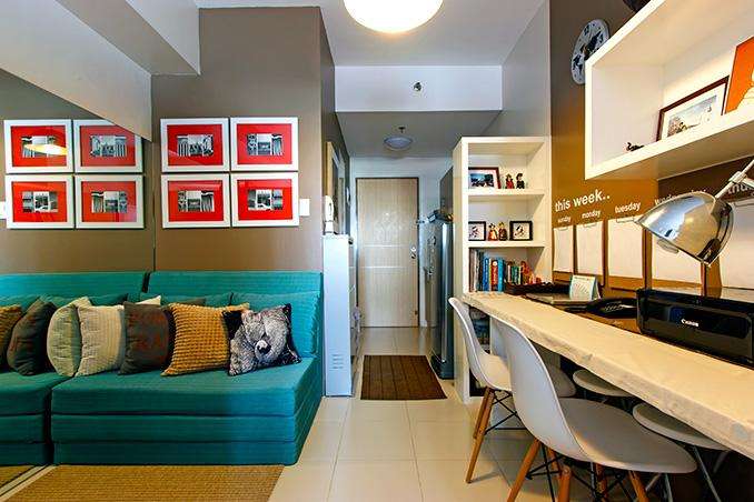 Small space ideas for a 23sqm condo rl for Living room interior design philippines