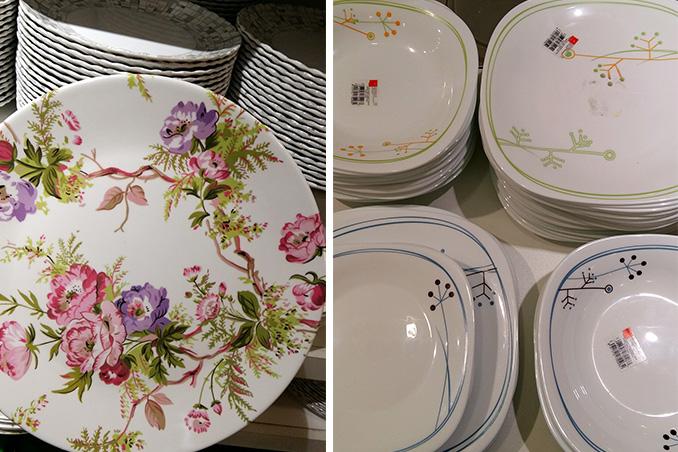 Picks Felina printed mugs (P59.75 each); Lav glasses (P79.75 each); Melawares floral dinner plate (P82.75) & Top 5 Places Where You Can Buy Affordable Dinnerware | RL