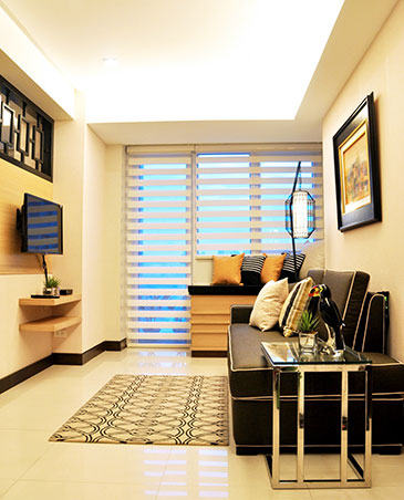 A modern classic look for a 70sqm condo in quezon city rl for Modern house quezon city