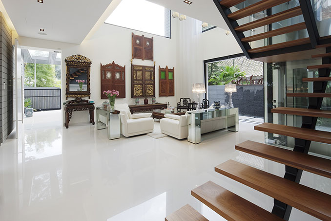 6 ideas to steal from a modern asian home in singapore rl for Modern things for home