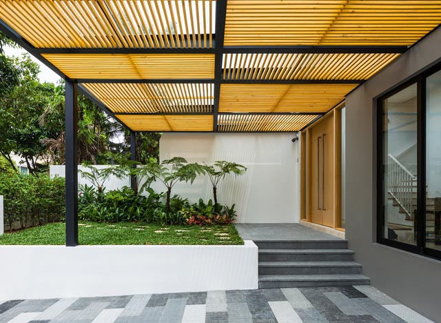 A Filipino Designed This Space-Savvy Modern House in Singapore on singapore furniture design, singapore christmas tree, singapore interior design, singapore garden design, singapore modern architecture, singapore kitchen design, singapore modern homes exterior designs, thin blockhouse design, singapore hotel design, singapore modern bathrooms,
