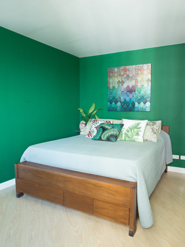Bedroom Colors For Husband And Wife cool colors and custom furniture complete this 68sqm unit | rl