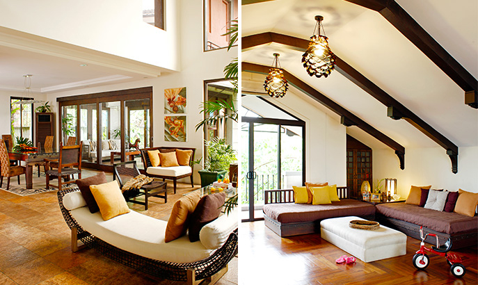 Modern filipino style for a family home rl for Living room interior design philippines