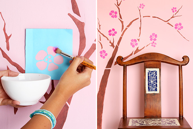DIY: A Charming Stencil Project for Your Walls | RL