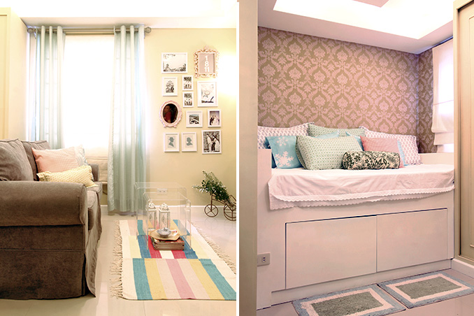 A cozy and compact 25sqm condo for a newlywed couple rl Condo kitchen design philippines