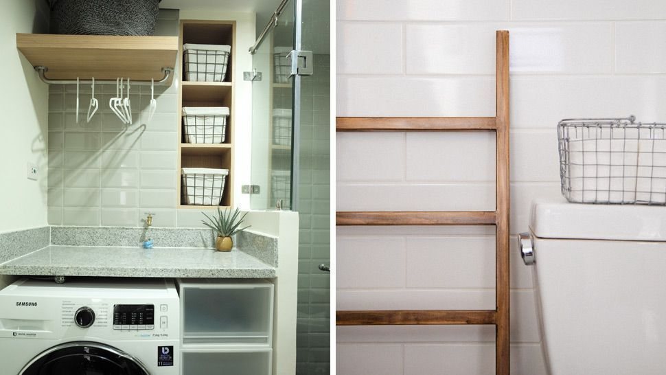 Creating A Laundry Area In A Small Bathroom