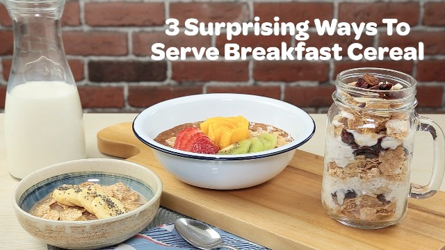 3 surprising ways to serve cereal yummy tired of your usual breakfast cereal try these delicious recipes you can make for every day of the week ccuart Choice Image