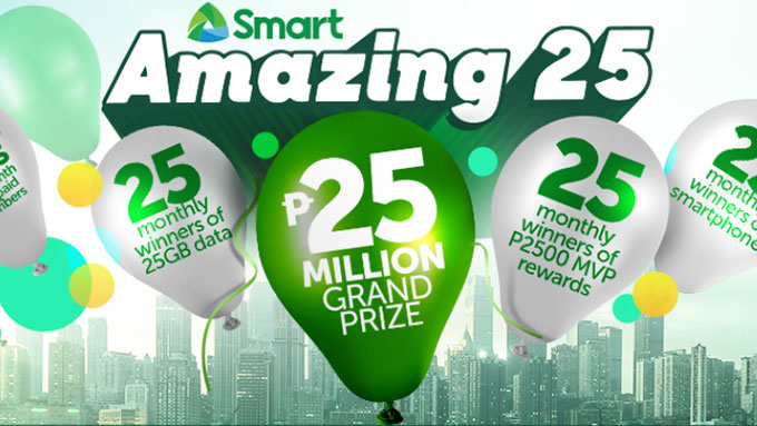 Smart celebrates 25th anniversary with raffle promo and other bonuses