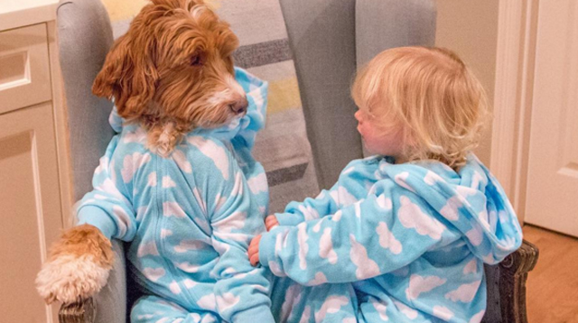 A Toddler and a Dog Dress Up in Matching Outfits and It's the Most Adorable Thing Ever