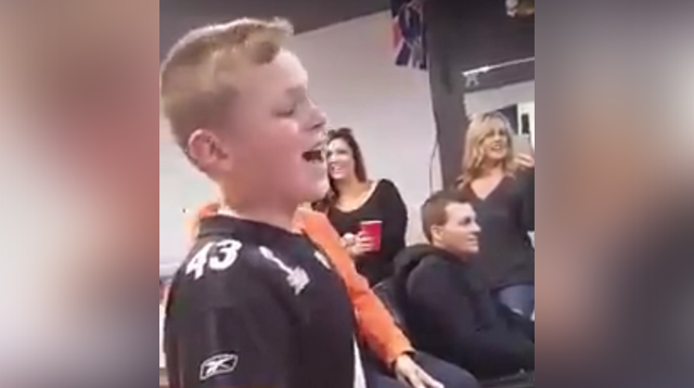 This Made Our Day: 11-year-old Can Sing