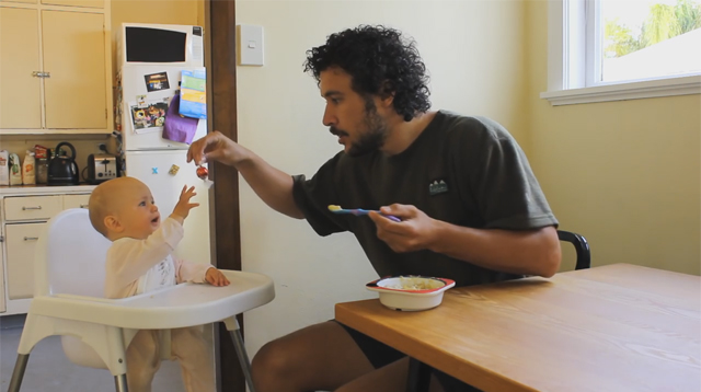 This Made Our Day: Hilarious Video of a Dad Teaching the Different Techniques on How to Feed a Baby