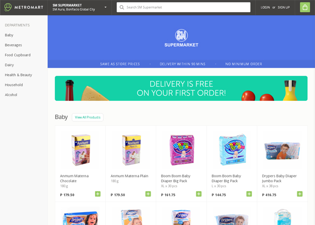 Online Shopping for Grocery Delivery in the Philippines