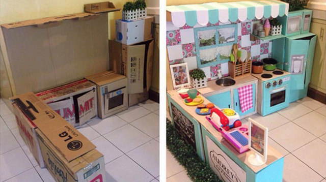 Mom Who Made the Play Kitchen Tells Us She Worked on It for a Week