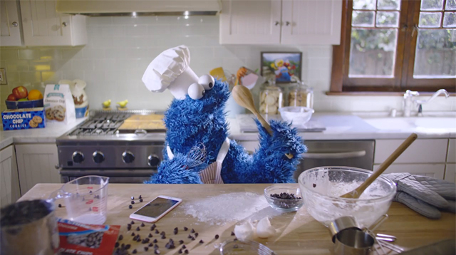 This Made Our Day: Cookie Monster Bakes Cookies with Apple's Siri