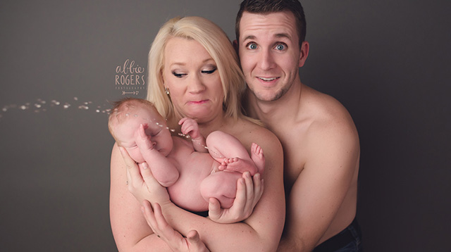 Baby Had a Hysterical Surprise During Family Photo Shoot