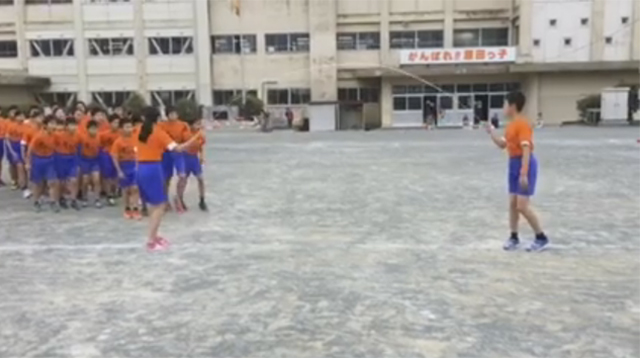 This Made Our Day: About 50 Kids in Rows Jump Rope in One Shot