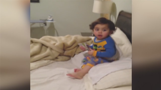 This Made Our Day: Watch the Hilarious Way a Toddler Escapes Bedtime
