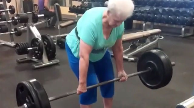This Made Our Day: A 78-Year-Old Grandma Lifts 200-Pound Barbell!