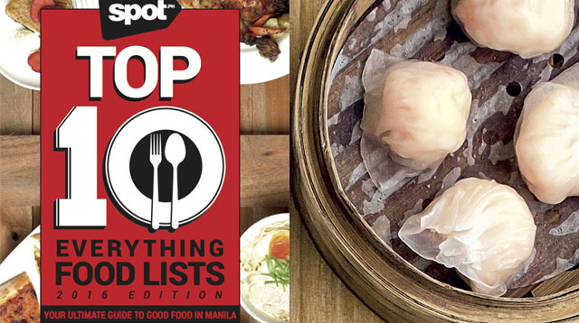 10 Most Affordable Eats on Spot.ph's Top 10 Everything Food Lists Book