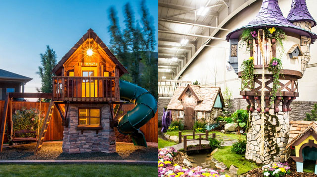 This Dad Builds Awesome Playhouses Including Riley Curry's Barn!