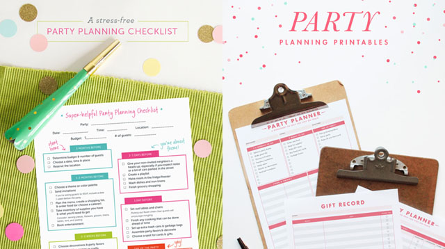 Get Everything Done on Time With These 7 Printable Party Planners