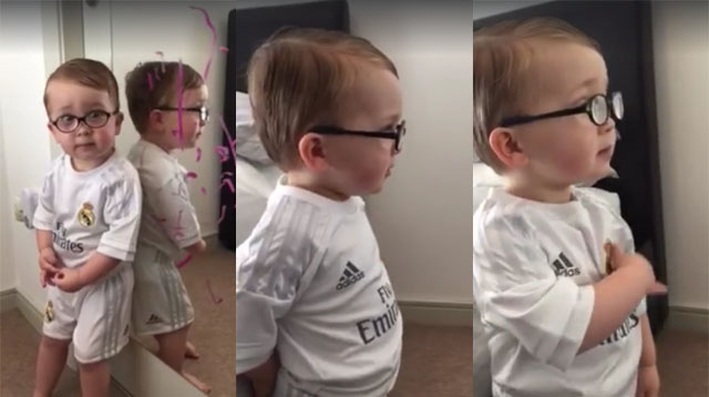 Watch: Super Cute Little Boy Says Batman Wrote on the Mirror