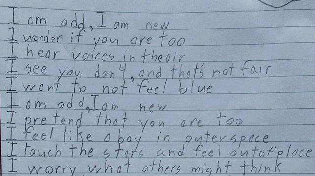 A Boy with Autism Writes a Beautiful but Heartbreaking Poem