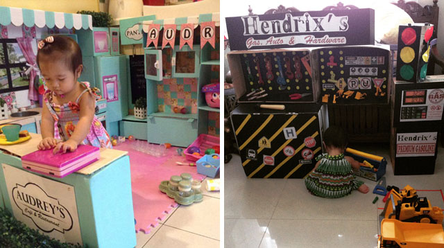 "Mom Who Built Incredible DIY Play Kitchen ""Renovates"" and Makes Another Cool Playset"