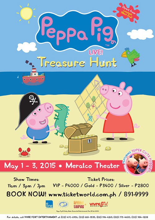 Peppa Pig live poster