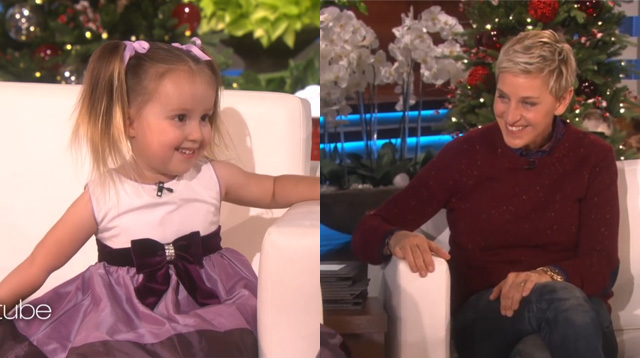 This Made Our Day: See an Adorable 3-Year-Old Wow Ellen with Her Wits and Smarts