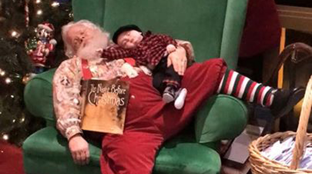 This Sleepy Baby Took the Most Adorable Photos with Santa